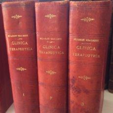 Libros antiguos: LECCIONES DE CLINICA TERAPÉUTICA 1.2,3 DUJARDIN BEAUMETZ(1890). Lote 90823495