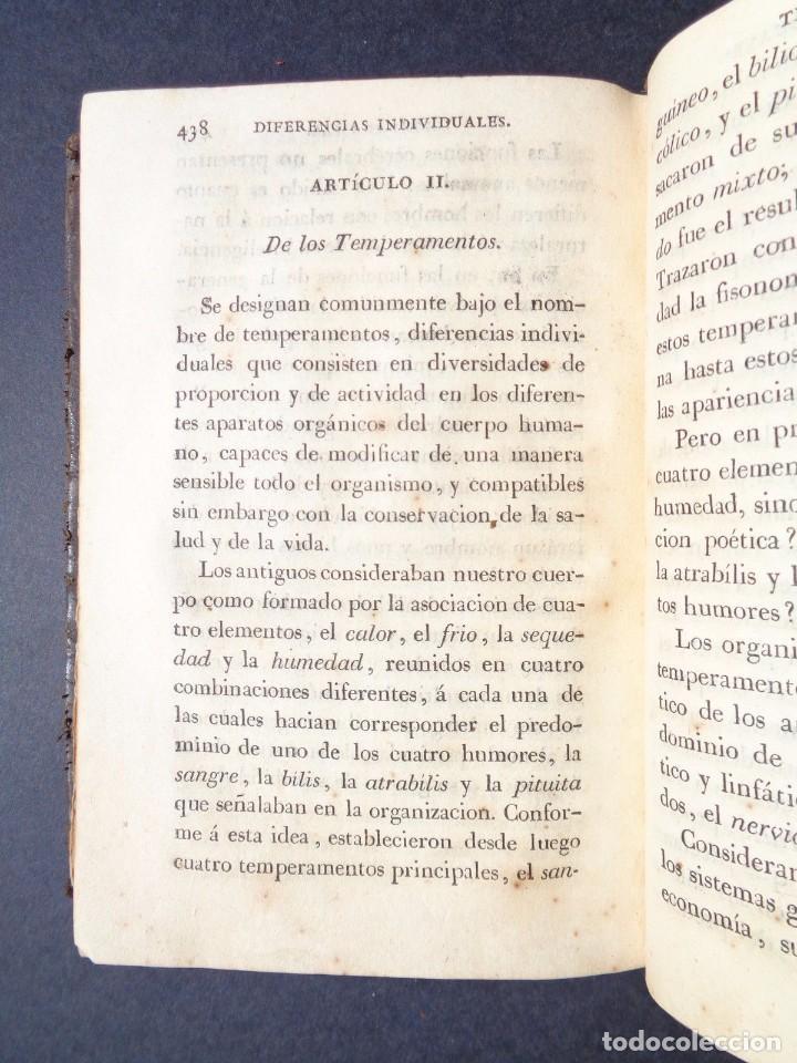 Libros antiguos: 1831 MANUAL DE LA FISIOLOGIA DEL HOMBRE - HUTIN - MEDICINA - psicologia - Foto 8 - 90981615