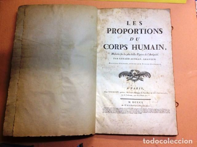 LES PROPORTIONS DU CORPS HUMAIN (Libros Antiguos, Raros y Curiosos - Ciencias, Manuales y Oficios - Medicina, Farmacia y Salud)