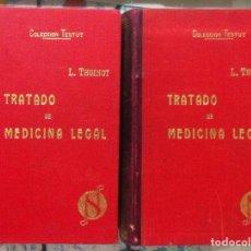 Libros antiguos: THOINOT. TRATADO DE MEDICINA LEGAL. 1923. Lote 91498910