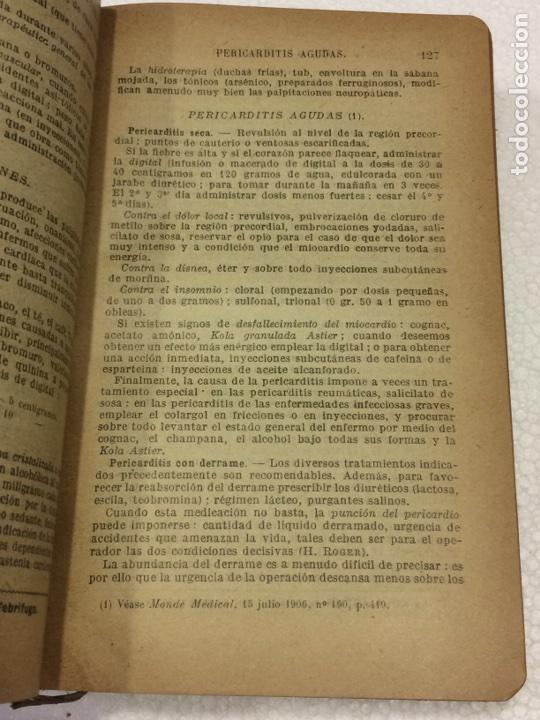 Libros antiguos: Formulario Astier,Quinta Edición Terapéutica y farmacológica1918 - Foto 5 - 91762984