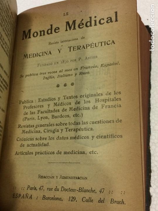 Libros antiguos: Formulario Astier,Quinta Edición Terapéutica y farmacológica1918 - Foto 6 - 91762984