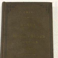 Libros antiguos: REVUE DES MEDICAMENTS NOUVEAUX 10 EDITION 1903. Lote 91764149