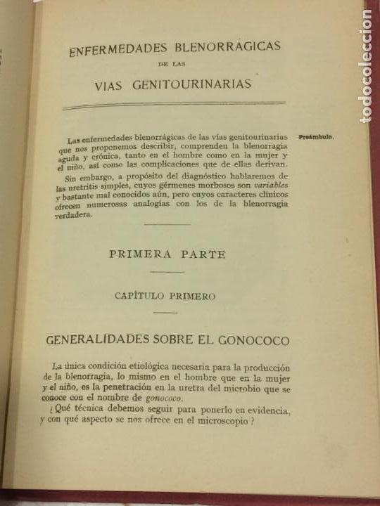 Libros antiguos: Enfermedades Blenorragicas de las vias Genitourinarias Dr.Alex Renault - Foto 6 - 91764409