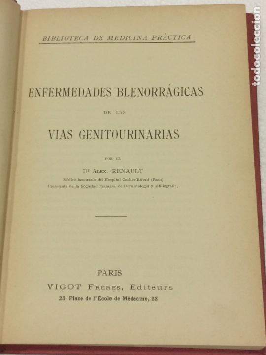 Libros antiguos: Enfermedades Blenorragicas de las vias Genitourinarias Dr.Alex Renault - Foto 8 - 91764409