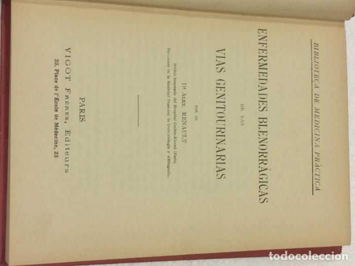 Libros antiguos: Enfermedades Blenorragicas de las vias Genitourinarias Dr.Alex Renault - Foto 21 - 91764409