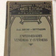 Libros antiguos: ERRORES DIAGNÓSTICOS Y TERAPÉUTICOS Y MANERA DE EVITARLOS.ENFERMEDADES VENEREAS Y CUTANEAS. Lote 91765029
