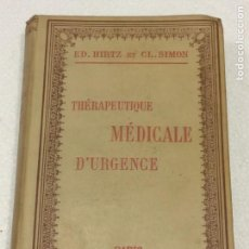 Libros antiguos: THERAPEUTIQUE MEDICALE D'URGEN E. Lote 91765462