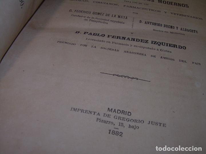 Libros antiguos: FARMACOLOGIA DE LOS MEDICAMENTOS - TERAPEUTICA - MATERIA MEDICA....AÑO..1.882 - Foto 2 - 92037880