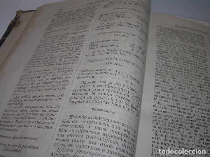 Libros antiguos: FARMACOLOGIA DE LOS MEDICAMENTOS - TERAPEUTICA - MATERIA MEDICA....AÑO..1.882 - Foto 5 - 92037880