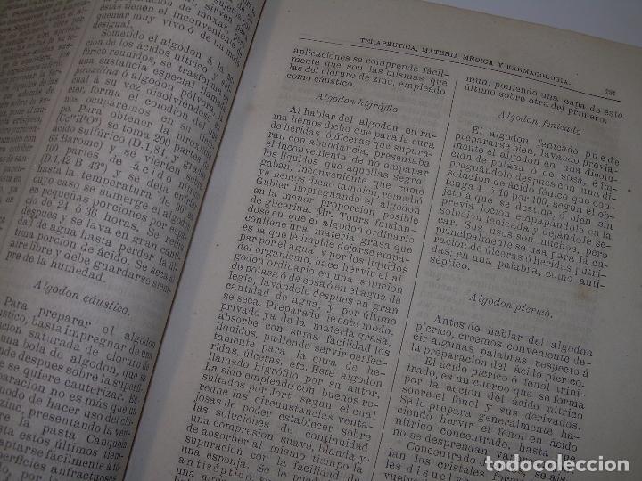 Libros antiguos: FARMACOLOGIA DE LOS MEDICAMENTOS - TERAPEUTICA - MATERIA MEDICA....AÑO..1.882 - Foto 7 - 92037880