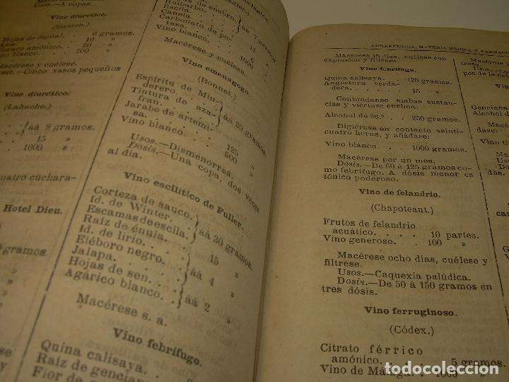 Libros antiguos: FARMACOLOGIA DE LOS MEDICAMENTOS - TERAPEUTICA - MATERIA MEDICA....AÑO..1.882 - Foto 15 - 92037880