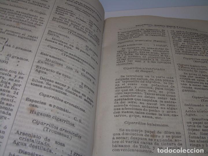 Libros antiguos: FARMACOLOGIA DE LOS MEDICAMENTOS - TERAPEUTICA - MATERIA MEDICA....AÑO..1.882 - Foto 25 - 92037880