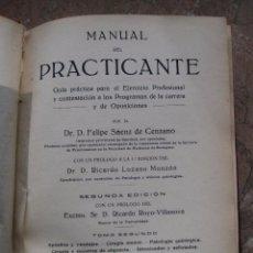 Libros antiguos: MANUAL DEL PRACTICANTE - TOMO SEGUNDO - ZARAGOZA : 1922.. Lote 92196375