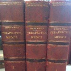 Libros antiguos: MANUAL DE TERAPÉUTICA MÉDICA 2 TOMOS 1902. Lote 92861507