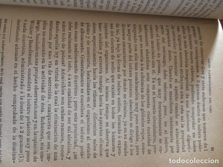 Libros antiguos: Tratado de la materia medica Dr.J.B Fonssagrives - Foto 9 - 92862268