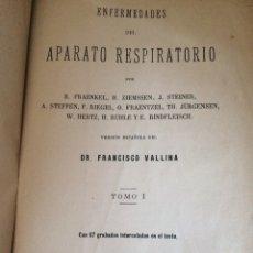 Libros antiguos: ENFERMEDADES DEL APARATO RESPIRATORIO 1884 TOMO 1 - 539 PAGINAS. Lote 92885284