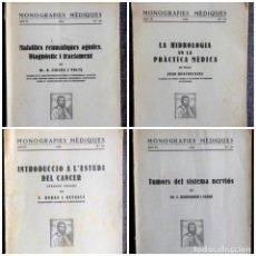 Libros antiguos: 4 MONOGRAFIES MÈDIQUES (1929-1936): REUMA, CÀNCER, TUMORS DEL SISTEMA NERVIÓS, HIDROLOGIA MÈDICA.... Lote 93258615