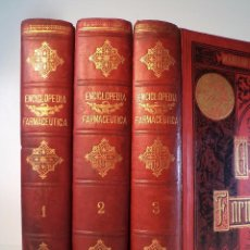 Libros antiguos: ENCICLOPEDIA FARMACÉUTICA O DICCIONARIO GENERAL DE FARMACIA TEORICO-PRACTICO. 3 VOLS: COMPLETO. Lote 94457438