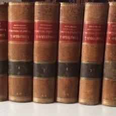 Libros antiguos: CIRUGÍA CLINICA Y OPERATORIA 10 TOMOS 1899 - 1902 DENTU-DELBET. Lote 94687528