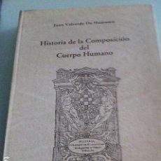 Libros antiguos: HISTORIA DE LA COMPOSICIÓN DEL CUERPO HUMANO. JUAN VALVERDE DE HAMUSCO. EDICIÓN FACSÍMIL.. Lote 94775943