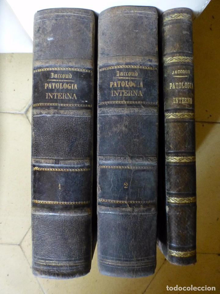 TRATADO DE PATOLOGÍA INTERNA POR J. JACCOUD 1875 2ª EDICIÓN 3 TOMOS (Libros Antiguos, Raros y Curiosos - Ciencias, Manuales y Oficios - Medicina, Farmacia y Salud)