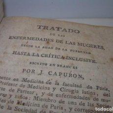 Libros antiguos: TRATADO DE LAS ENFERMEDADES DE LA MUGERES..TAPAS DE PIEL....AÑO.1.821...DOS TOMOS EN UN MISMO LIBRO.. Lote 95412375
