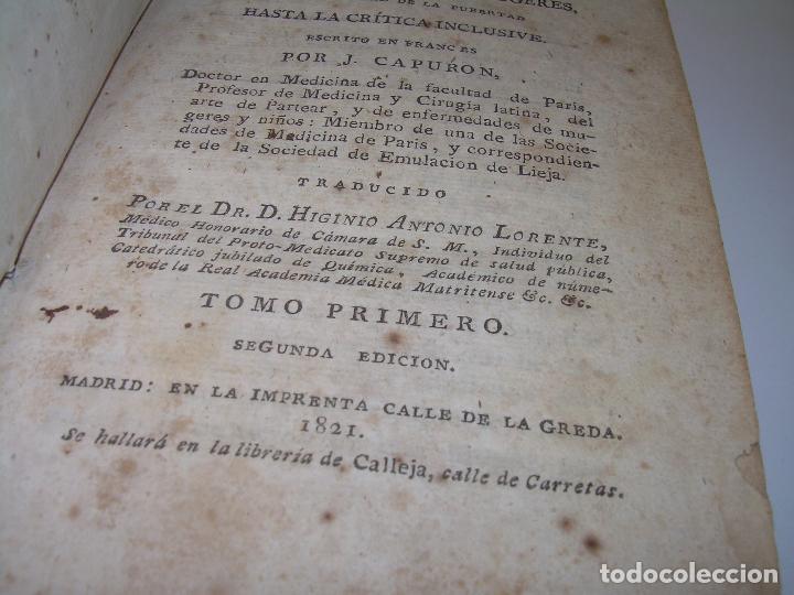 Libros antiguos: TRATADO DE LAS ENFERMEDADES DE LA MUGERES..TAPAS DE PIEL....AÑO.1.821...DOS TOMOS EN UN MISMO LIBRO. - Foto 2 - 95412375