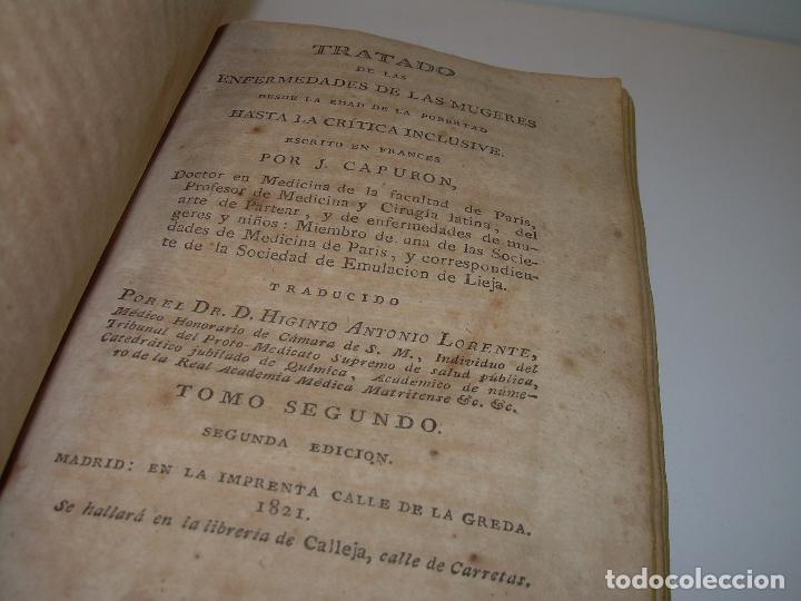 Libros antiguos: TRATADO DE LAS ENFERMEDADES DE LA MUGERES..TAPAS DE PIEL....AÑO.1.821...DOS TOMOS EN UN MISMO LIBRO. - Foto 3 - 95412375