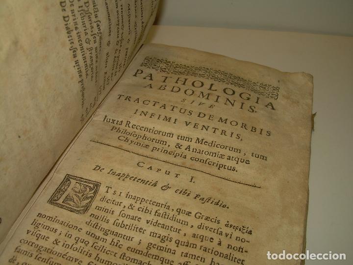 Libros antiguos: DOS TOMOS DE MEDICINA.... TAPAS DE PERGAMINO..AÑO. 1.712...PRAXIS MEDICA. - Foto 6 - 95412871