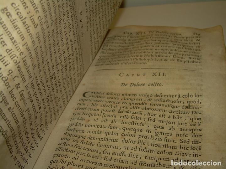 Libros antiguos: DOS TOMOS DE MEDICINA.... TAPAS DE PERGAMINO..AÑO. 1.712...PRAXIS MEDICA. - Foto 8 - 95412871