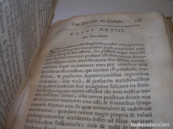 Libros antiguos: DOS TOMOS DE MEDICINA.... TAPAS DE PERGAMINO..AÑO. 1.712...PRAXIS MEDICA. - Foto 10 - 95412871