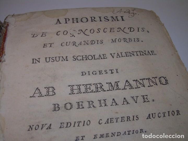LIBRO TAPAS PERGAMINO....MEDICINA...APHORISIMI CURANDIS MORBIS...AÑO.1.791 (Libros Antiguos, Raros y Curiosos - Ciencias, Manuales y Oficios - Medicina, Farmacia y Salud)