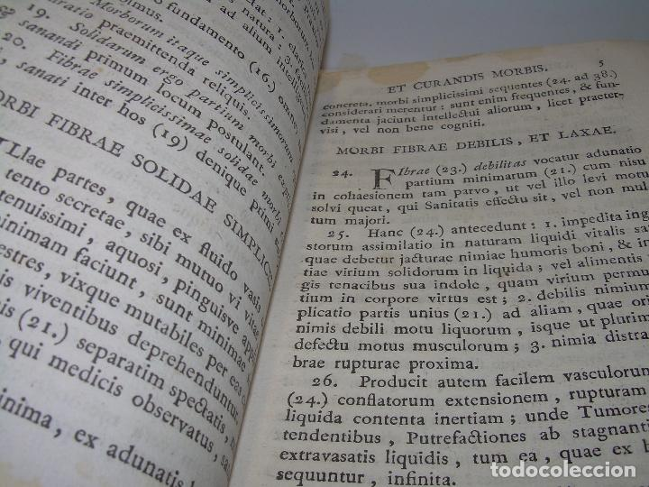Libros antiguos: LIBRO TAPAS PERGAMINO....MEDICINA...APHORISIMI CURANDIS MORBIS...AÑO.1.791 - Foto 9 - 95415891