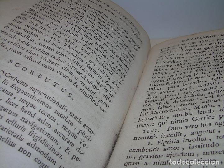 Libros antiguos: LIBRO TAPAS PERGAMINO....MEDICINA...APHORISIMI CURANDIS MORBIS...AÑO.1.791 - Foto 12 - 95415891