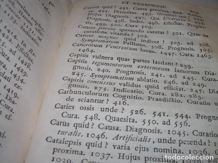 Libros antiguos: LIBRO TAPAS PERGAMINO....MEDICINA...APHORISIMI CURANDIS MORBIS...AÑO.1.791 - Foto 13 - 95415891