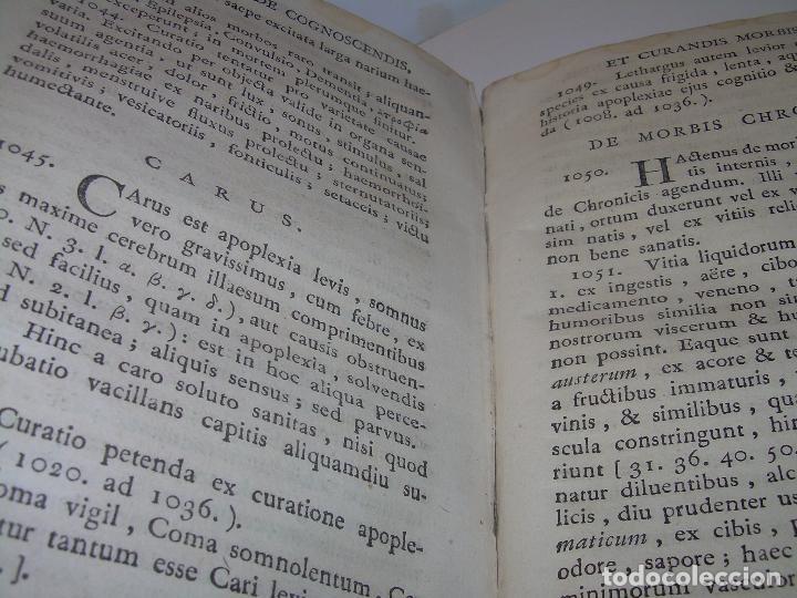 Libros antiguos: LIBRO TAPAS PERGAMINO....MEDICINA...APHORISIMI CURANDIS MORBIS...AÑO.1.791 - Foto 17 - 95415891