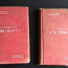 Libros antiguos: ELEMENTOS DE ANATOMÍA Y FISILOGÍA MÉDICAS- 2 VOLS - ISART,1916 - LANDOUZY Y BERNARD. Lote 95451667