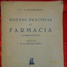 Libros antiguos: NUEVAS PRACTICAS DE FARMACIA-FARMACOTECNICA . Lote 96661511