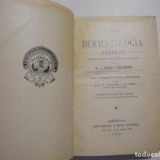 Libros antiguos: MANUAL DE DERMATOLOGÍA GENERAL. J. PEYRÍ Y ROCAMORA. ED. JOSÉ ESPASA. . Lote 96662059