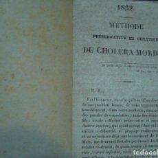 Libros antiguos: METHODE PRESEVATIVE ET CURATIVE DU CHOLERA-MORBUS M LARREA 1832 PARIS. Lote 96771795