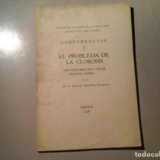 Libros antiguos: GREGORIO MARAÑON. EL PROBLEMA DE LA CLOROSIS. 1ª EDICIÓN 1936. RESIDENCIA DE ESTUDIANTES. RARO. Lote 97090431