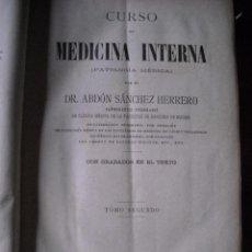 Libros antiguos: MEDICINA INTERNA II TOMOS. Lote 97119831