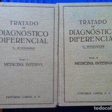 Libros antiguos: HONIGMANN. TRATADO DE DIAGNÓSTICO DIFERENCIAL. MEDICINA INTERNA. 1932. Lote 97524071
