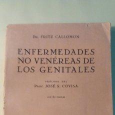 Libros antiguos: LIBRO ANTIGUO. ENFERMEDADES NO VENEREAS DE LOS GENITALES. 1931.. Lote 97691724