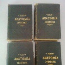 Libros antiguos: TRATADO DE ANATOMÍA HUMANA. L. TESTUT. 4ª EDICIÓN. COMPLETA 4 TOMOS.. Lote 98046123