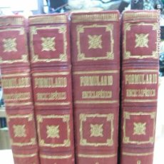 Libros antiguos: FORMULARIO ENCICLOPÉDICO MEDICINA FARMACIA VETERINARIA FARMACOPEAS PÉREZ M. MINGUEZ SEIX S. XIX. Lote 98203395