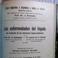 Libros antiguos: EPPINGER & WALZEL. LAS ENFERMEDADES DEL HIGADO CON EXCLUSION DE ... 1930. Lote 98644063