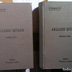 Libros antiguos: CASARES GIL. ANÁLISIS QUÍMICO. 1923. Lote 98645491