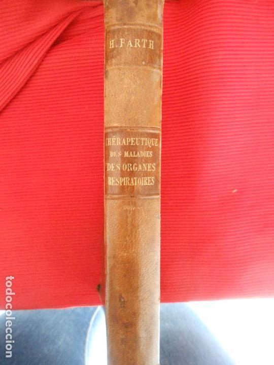 THERAPEUTIQUE DES MALADIES DES ORGANES RESPIRATOIRES-H.BARTH (Libros Antiguos, Raros y Curiosos - Ciencias, Manuales y Oficios - Medicina, Farmacia y Salud)
